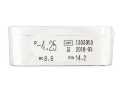 Miru 1 Day (30čoček) - Náhled parametrů čoček