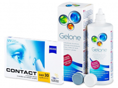 Carl Zeiss Contact Day 30 Spheric (6 čoček) + roztok Gelone 360 ml