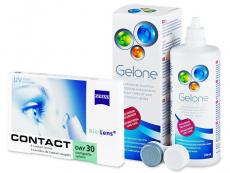 Výhodné balíčky kontaktních čoček - Carl Zeiss Contact Day 30 Compatic (6 čoček) + roztok Gelone 360 ml