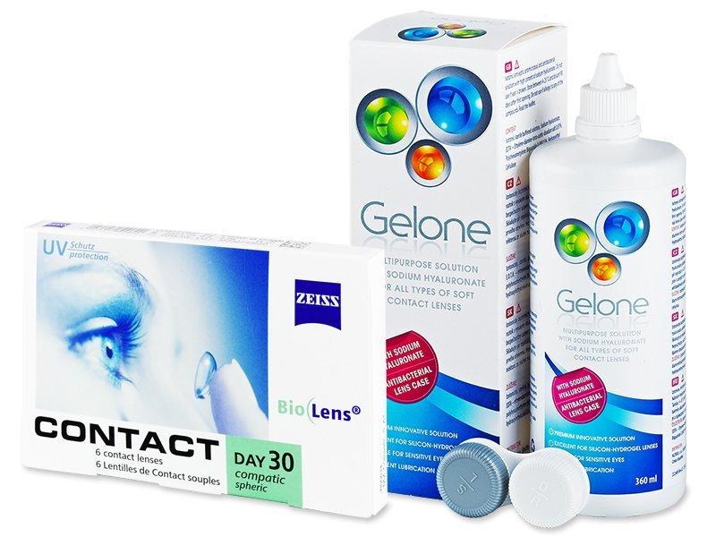 Carl Zeiss Contact Day 30 Compatic (6 čoček) + roztok Gelone 360 ml - Výhodný balíček