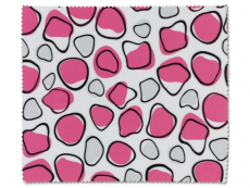 Péče o brýle - Čistící hadřík na brýle - růžová a bílá