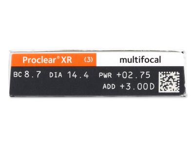 Proclear Multifocal XR (6 čoček) - Náhled parametrů čoček