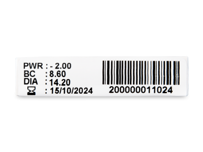 TopVue Plus (6 čoček) - Náhled parametrů čoček