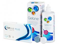 Výhodné balíčky kontaktních čoček - TopVue Plus (6 čoček) + roztok Gelone 360 ml