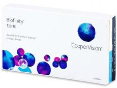 Měsíční kontaktní čočky - Biofinity Toric (3čočky)