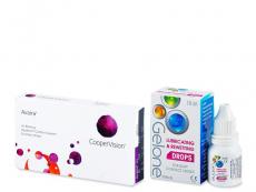 Výhodné balíčky kontaktních čoček - Avaira (6 čoček) +oční kapky Gelone