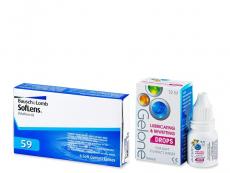 Výhodné balíčky kontaktních čoček - Soflens 59 (6 čoček) +oční kapky Gelone