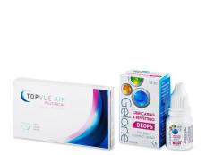 Výhodné balíčky kontaktních čoček - TopVue Air Multifocal (3 čočky) +oční kapky Gelone