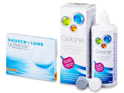 Bausch + Lomb ULTRA for Astigmatism(3 čočky) + roztok Gelone 360 ml