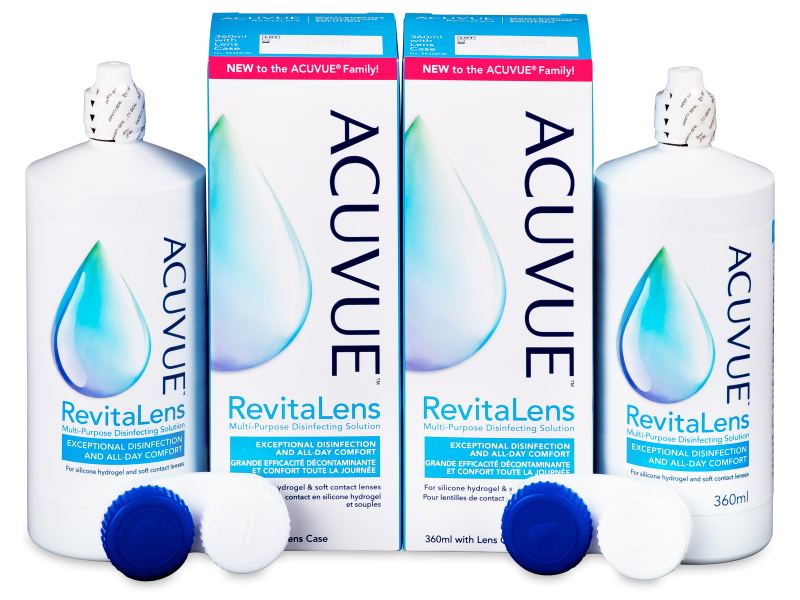 Roztok Acuvue RevitaLens 2x 360 ml  - Economy duo pack- solution