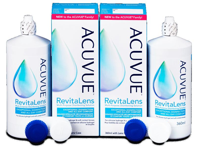 Roztok Acuvue RevitaLens 2x 360 ml  - Výhodné dvojbalení roztoku