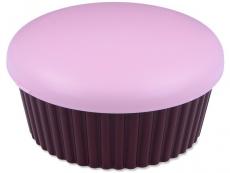 Pouzdra na čočky a cestovní sady - Kazetka se zrcátkem Muffin - růžová