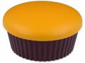 Kazetka se zrcátkem Muffin - oranžová