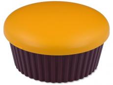 Příslušenství - Kazetka se zrcátkem Muffin - oranžová