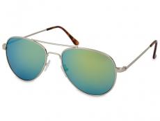 Dámské sluneční brýle - Sluneční brýle Silver Pilot - Blue/Green