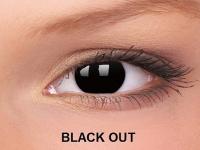 ColourVUE Crazy Lens - nedioptrické (2čočky) - Black Out