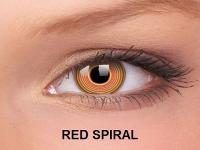 ColourVUE Crazy Lens - nedioptrické (2čočky) - Red Spiral