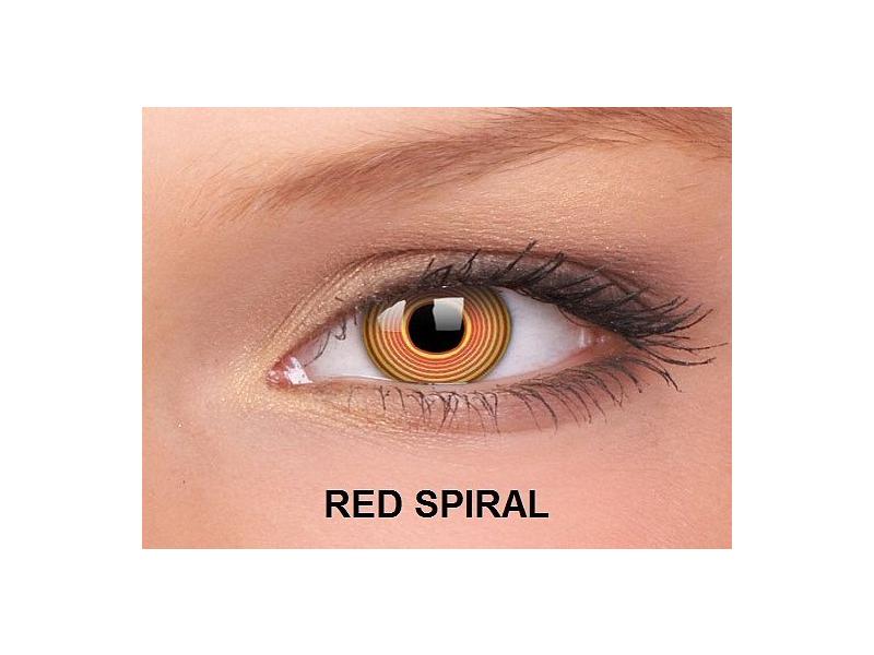 Red Spiral - ColourVUE Crazy Lens - nedioptrické (2čočky)