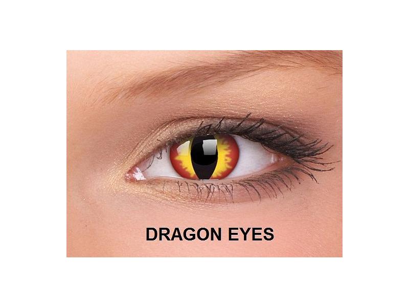 Dragon Eyes - ColourVUE Crazy Lens - nedioptrické (2čočky)