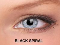 ColourVUE Crazy Lens - nedioptrické (2čočky) - Black Spiral