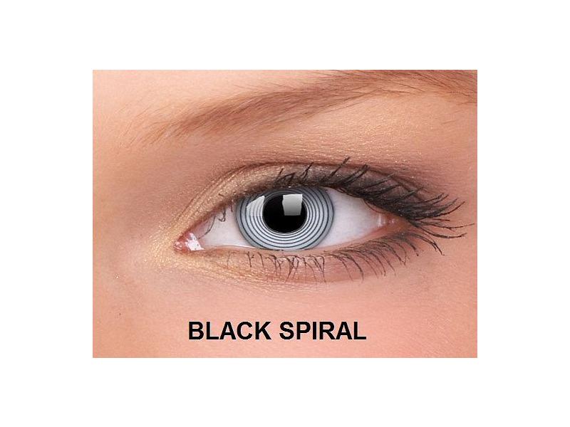 Black Spiral - ColourVUE Crazy Lens - nedioptrické (2čočky)