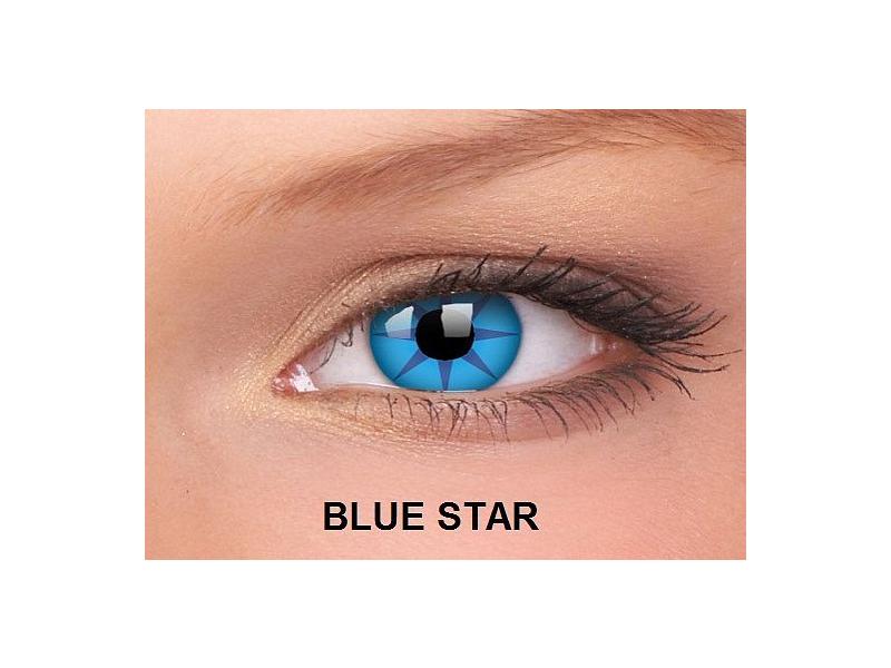 Blue Star - ColourVUE Crazy Lens - nedioptrické (2čočky)