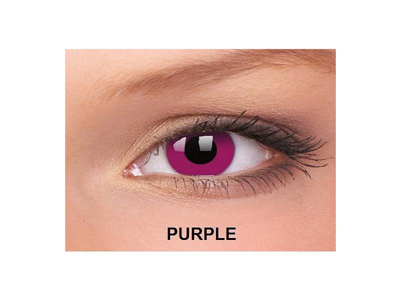 Fialová - ColourVUE Crazy Lens - nedioptrické (2čočky)