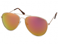 Dámské sluneční brýle - Sluneční brýle Gold Pilot - Pink/Orange