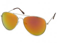 Dámské sluneční brýle - Sluneční brýle Silver Pilot - Pink/Orange