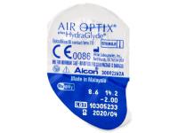 Air Optix plus HydraGlyde (6čoček) - Vzhled blistru s čočkou