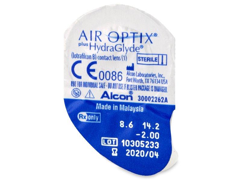 Vzhled blistru s čočkou - Air Optix plus HydraGlyde (6čoček)