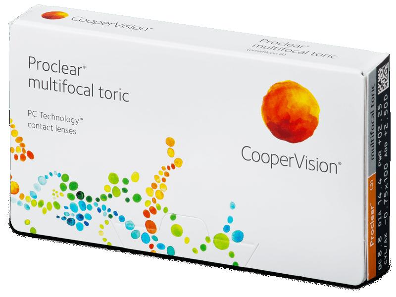 Proclear Multifocal Toric (3čočky) - Měsíční kontaktní čočky