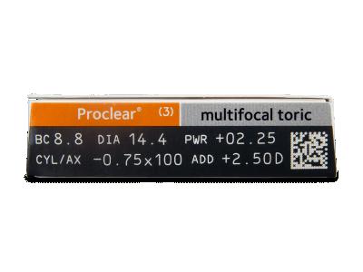 Proclear Multifocal Toric (3čočky) - Náhled parametrů čoček