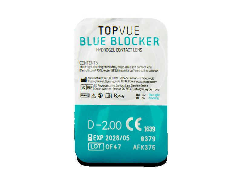 TopVue Blue Blocker (5párůčoček) - Vzhled blistru s čočkou