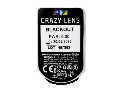 CRAZY LENS - Black Out - nedioptrické jednodenní (2 čočky)