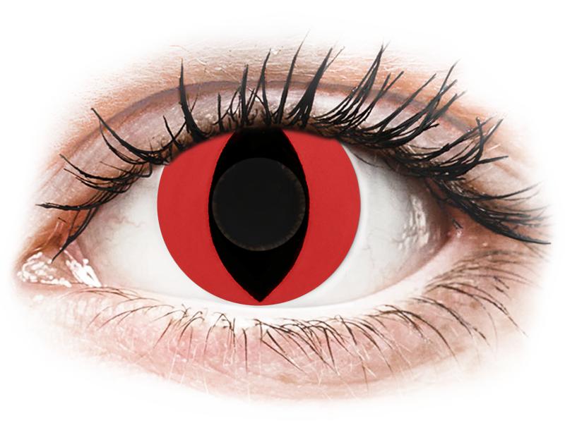 CRAZY LENS - Cat Eye Red - nedioptrické jednodenní (2 čočky)