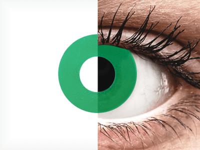 CRAZY LENS - Emerald Green - nedioptrické jednodenní (2 čočky)