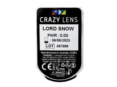 CRAZY LENS - Lord Snow - nedioptrické jednodenní (2 čočky)
