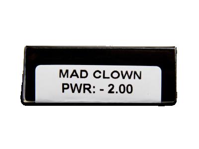 CRAZY LENS - Mad Clown - dioptrické jednodenní (2 čočky)