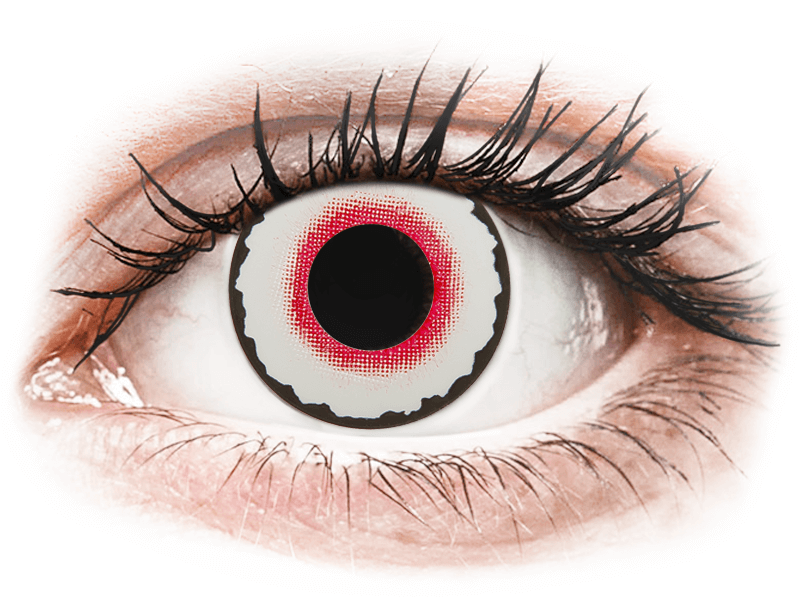 CRAZY LENS - Mad Clown - nedioptrické jednodenní (2 čočky) - Barevné kontaktní čočky