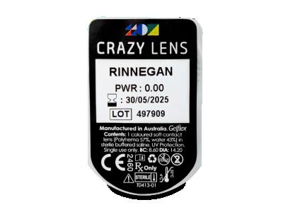 CRAZY LENS - Rinnegan - nedioptrické jednodenní (2 čočky)