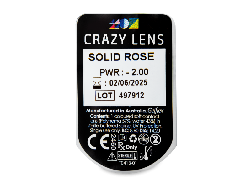 CRAZY LENS - Solid Rose - dioptrické jednodenní (2 čočky)