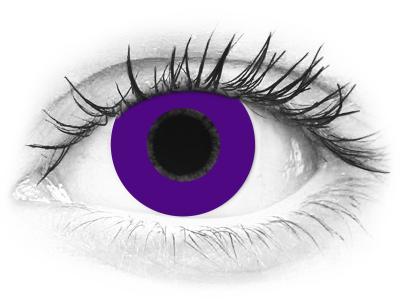CRAZY LENS - Solid Violet - nedioptrické jednodenní (2 čočky)