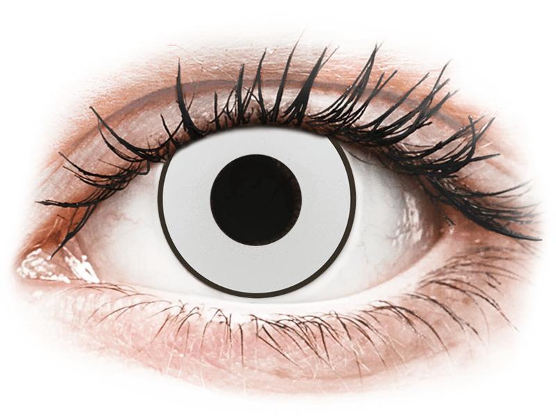 CRAZY LENS - White Black - nedioptrické jednodenní (2 čočky) - Barevné kontaktní čočky