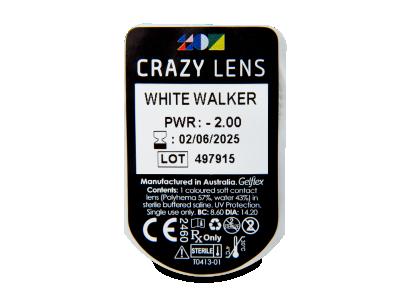 CRAZY LENS - White Walker - dioptrické jednodenní (2 čočky)