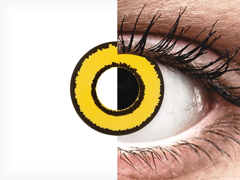 CRAZY LENS - Yellow Twilight - nedioptrické jednodenní (2 čočky)