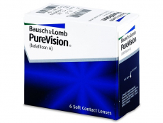 Měsíční kontaktní čočky - PureVision (6čoček)