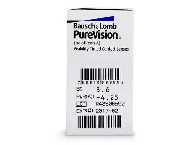 PureVision (6čoček) - Náhled parametrů čoček