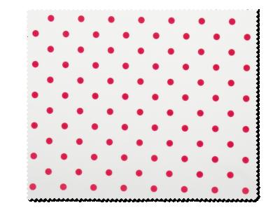Čistící hadřík na brýle - červené puntíky