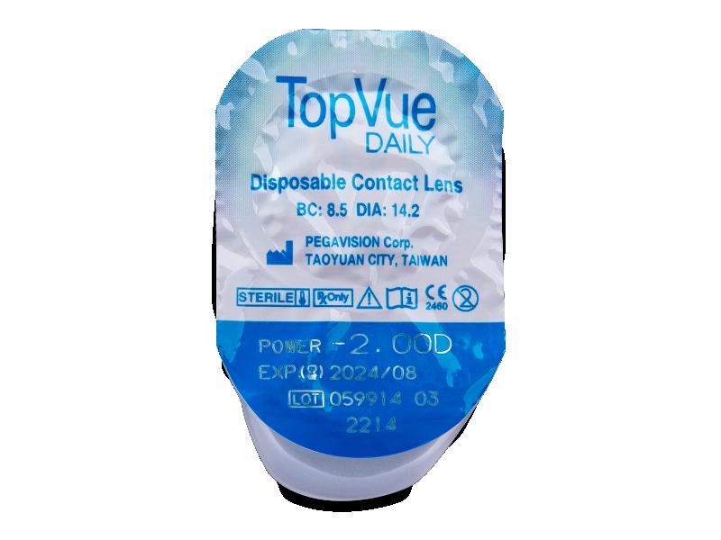 TopVue Daily (90čoček) - Vzhled blistru s čočkou